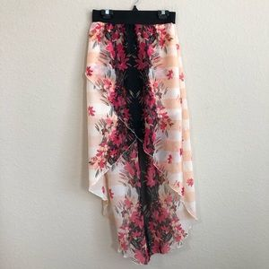 Wet Seal High Low Floral Skirt